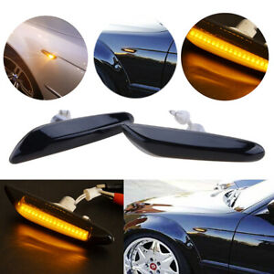 LED Side Marker Smoked Turn Signal Light For BMW E90 E91 E92 E93 E60 E87 E82 E46