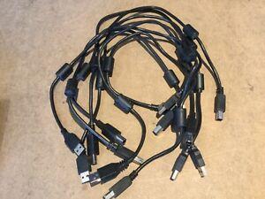Job Lot 7 x 0.5m Usb to Printer Square pin cable