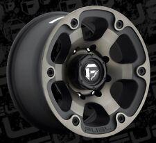 Fuel Beast D564 18x9 5x5.5 ET-12 Black Machined Tint Wheels Rims (Set of 4)