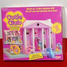Vintage Cutie Club Manor Mini Playhouse Mansion Pink Furniture 1990 Galoob NIB