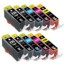 10 Pack PGI-225BK CLI-226C CLI-226M CLI-226Y CLI-226BK Ink Cartridge for Canon
