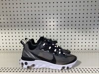 Nike React Element 87 Athletic Running Shoes Mens Size 5 Womens 6.5 Gray Black
