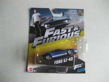 FAST & FURIOUS FORD GT40 BLUE SPORTS CAR  DETAILED MODEL COLLECTABLE BARGAIN