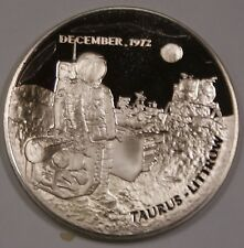 Apollo 17 Sterling Silver Proof Medal in 2x2 Soft Plastic Flip