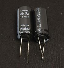 (2pcs) 68uf 450v Rubycon Radial Electrolytic Capacitor 450v68uf TXW Long Life