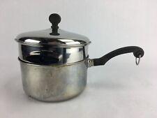 Farberware Stainless Steel Aluminum Clad 2 Quart Saucepan Pot Lid, Double Boiler
