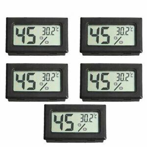 5PC Hygrometer Humidity Tester REPTILE LCD DIGITAL Temperature Meter Thermometer