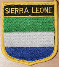 SIERRA LEONE Shield Country Flag Embroidered PATCH Badge P1