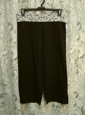 MADE FOR LIFE BLACK ATHLETIC YOGA WORKOUT CAPRIS LEGGINGS SHORTS PANTS~3X~NW