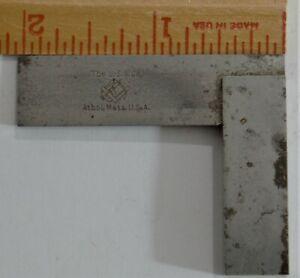 "Starrett No. 20-2"" Machinst Tool & Die Makers Hardened Steel Square"