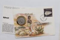 DJIBOUTI 5 FRANCS 1986COIN COVER A98 - 24