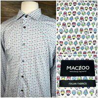 MACEOO Paris Mens 6/XXL Long Sleeve Button Front Shirt Luxor-106 White EUC!!