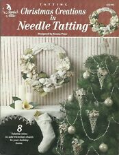 Christmas Creations in Needle Tatting Crochet Ornaments Garland Patterns NEW