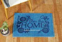 BLESS THIS HOME Welcome Home Entrance Floor Rug Non-slip Doormat Carpet Door Mat