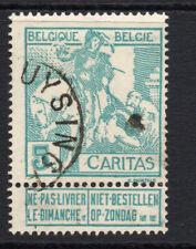 Belgium 5 Cent Stamp c1910 SPl  Used  (2838)