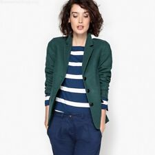 9c7396bf19061 La Redoute Dark Green Fitted Blazer With Elbow Patches Size UK 20 Lf182 HH  12