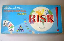 Vintage classic Risk ! Parker Brothers Continental complete Game wood pcs +cards
