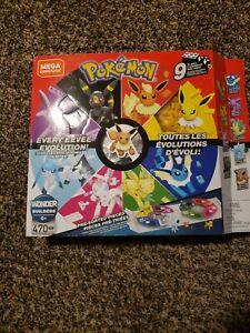 Mega Construx Pokemon Every Eevee Evolution 9 Pack Set