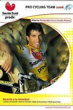 CYCLISME carte ALBERTO FERNANDEZ DE LA PUEBLA RAMOS équipe SAUNIER DUVAL