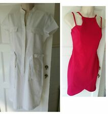 LADIES STEILMANN CREAM AND BOOHOO SHORT PINK DRESS Size UK 10 US 6 Pre-loved