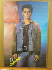 Vintage 1987 21 Jump Street original Johnny Depp movie poster 10022