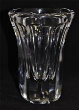"Heavy Crystal Vase Signed Daum, Nancy, France, 7 3/4"" Tall x 5 1/2"" Across, 6 lb"