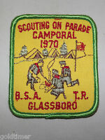 VINTAGE BSA BOY SCOUT PATCH 1970 SCOUTING ON PARADE CAMPORAL GLASSBORO