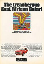 1971 Datsun 510 African Safari Race - Original Car Advertisement Print Ad J207