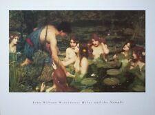 John Waterhouse vintage poster print-Hylas et les nymphes - 60 cm x 80 cm-Nude