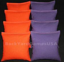 Cornhole Bags orange & lila 8 ACA Verordnung Bean Bags Clemson Tigers FreeShip