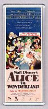 ALICE IN WONDERLAND movie poster LARGE FRIDGE MAGNET