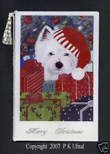Paint&Ink Dog Art,Westie Christmas Cards,byP K Ufnal