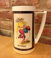 Bowling Vintage Thermo Serv Large Plastic Mug Ladies Women Humor Strike Turkey