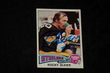 ROCKY BLEIER 1975 TOPPS ROOKIE SIGNED AUTOGRAPHED CARD #39 STEELERS