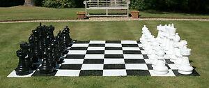 Freiland Schach, Gartenschach, Rasenschach, XL Mega Garten Schach, 32 Figuren