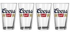 COORS ORIGINAL THE BANQUET BEER 4 BAR PUB BEER PINT GLASSES NEW