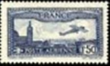 "FRANCE TIMBRE STAMP AVION N°6 ""AVION SURVOLANT MARSEILLE"" NEUF XX LUXE"