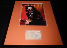 Steve Vai Framed 16x20 Repro 1999 House of Blues Concert Ticket & Photo Display
