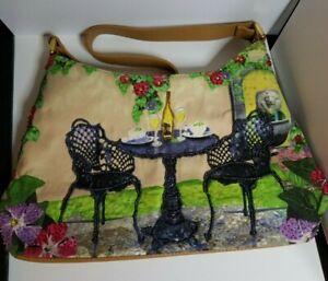 Wilson Leather Pelle Studio Handbag Purse Beaded