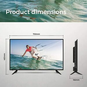 FERGUSON 32 INCH SMART LED TV FREEVIEW HD, 2 x HDMi, USB,1080i - SCREEN DEFECT