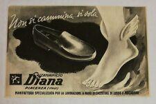 Pubblicità 1937 SCARPE DIANA CALZATURIFICIO PIACENZA advert publicitè reklame