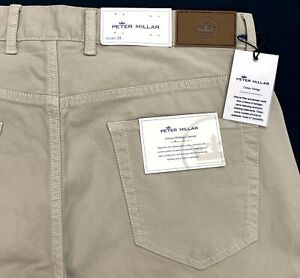 Peter Millar Crown Vintage Classic Canvas Five Pocket Stretch Pants 33x33 $158