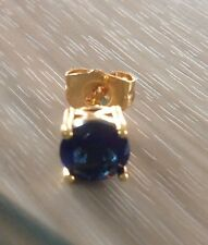 mens solid blue sapphire stud b earrings fine ebay bn round shape ct push s gold white