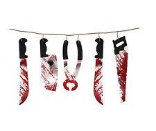 1.8m Strumenti di Tortura Insanguinati Halloween Appeso Ghirlanda Festa Decorazione