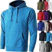 Mens HOODIE PULLOVER Sweatshirts Fleece Casual Sports Active Hooded Shirt Heavy