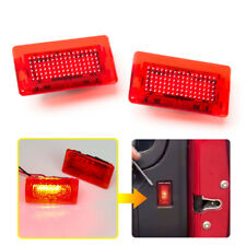 For Tesla Model S X 2015-2018 Car Door Interior Warning Lamp Red LED Light Flash