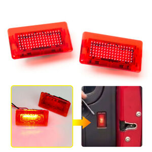 For Tesla Model S X 2015-2018 Car Door Interior Warning Lamp Red LED Light Flash
