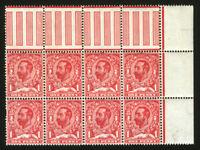 Great Britain #152? 1p Carmine 1911 Margin Block of 8 *MNH*