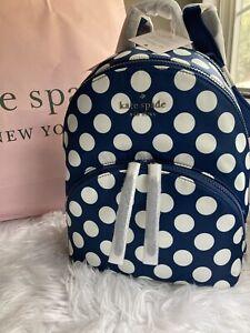NWT KATE SPADE NEW YORK MEDIUM KARISSA SEASIDE DOT NYLON BACKPACK WOMENS BAG