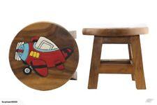 Sgabello in legno legno di pino massello con cassetto per